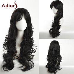 Adiors Long Inclined Bang Layered Curly Synthetic Wig