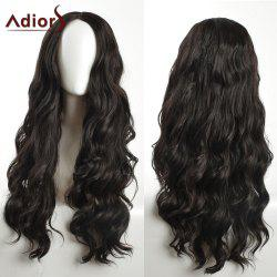 Adiors Long Layered Wavy Center Part Synthetic Wig