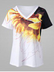 V Neck Graphic T-shirt