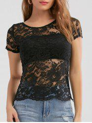 See Through Lace Top