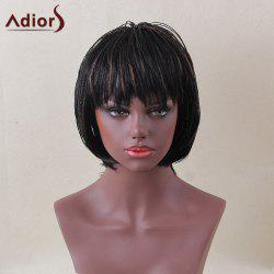 Adiors Short Bob Full Bang Micro Braids Straight Colormix Synthetic Wig