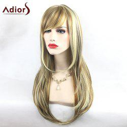 Adiors Colormix Tail Adduction Long Side Bang Silky Straight Highlight Synthetic Wig