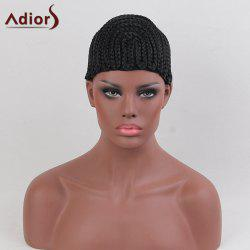 Adiors Adjustable Lace Braids Cornrow Synthetic Wig Cap - JET BLACK
