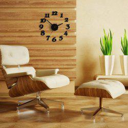 Home Decor Number DIY Analog Wall Clock - BLACK
