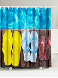 Wood Slippers Print Shower Curtain