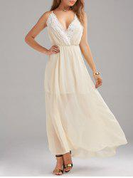 Criss Backless Chiffon Semi Formal Wedding Dress