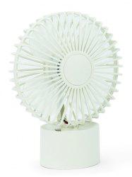 Mini ventilateur portable miniature rechargeable - Blanc