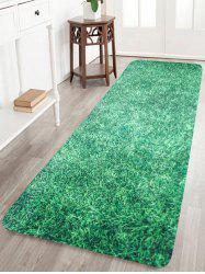 Lawn Pattern Anti-slip Coral Fleece Bath Rug