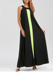 Two Tone Floor Length Casual Summer Dress