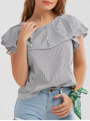 Ruffle Striped Blouse