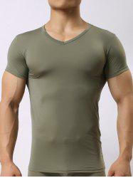 High Stretch V Neck Tee