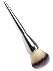 Taper Plating Handle Multifunctional Portable Foundation Brush - SILVER
