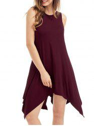 Pockets Sleeveless Asymmetrical Dress