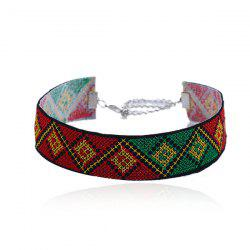 Geometric Embroidery Ethnic Choker Necklace