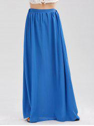 Casual Floor Length Chiffon Skirt - BLUE