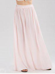Casual Floor Length Chiffon Skirt