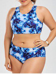 High Waisted Racerback Plus Size Bikini Set