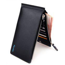 Bifold Faux Leather Organizer Wallet - Noir