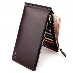 Bifold Faux Leather Organizer Wallet -