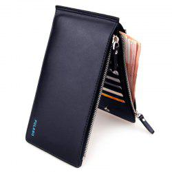 Bifold Faux Leather Organizer Wallet - DEEP BLUE