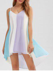 High Low Hem Summer Flowy Mini Cami Dress - COLORMIX