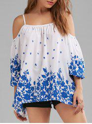 Floral Dew Shoulder Blouse