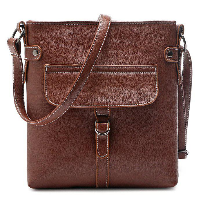 Latest Faux Leather Stitching Crossbody Bag