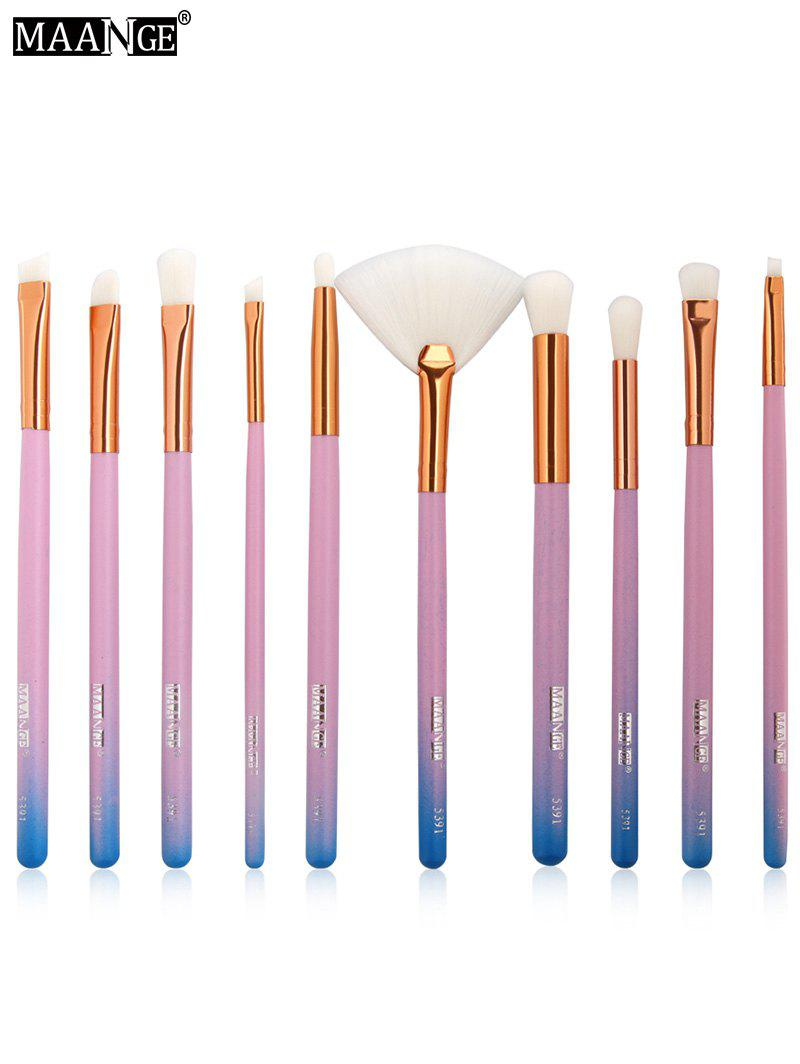 Colorful Maange 10 Pcs Ombre Rainbow Mermaid Makeup: 2018 Maange 10pcs Ombre Makeup Brushes Set In Blue