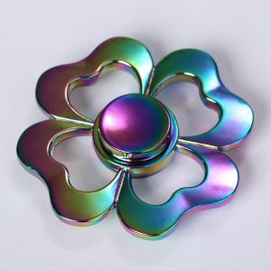 Four-leaf Clover Colorful Electroplated Metal Fidget Spinner -
