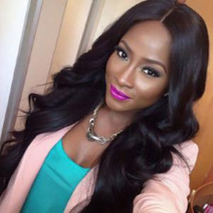 Long Shaggy Thick Body Wave Middle Part Synthetic Wig - Jet Black 01# - 26inch