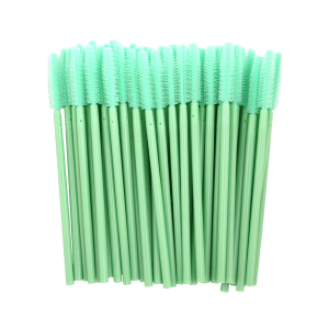50 Pcs/Pack Disposable Silicone Eye Brow Groomer Brushes - GREEN