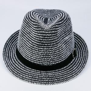 Woven Fedora Hat with Ribbon -