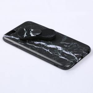 Plastic Marble Print Finger Spinner Soft TPU IPhone Cover - BLACK IPHONE 5