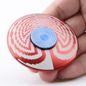 EDC Fidget Toy Disc Shape Finger Gyro Spinner - Red - 6*6.1.5cm