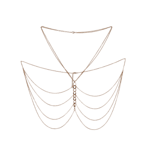 Embellished Fringed Body Chain Jewelry - GOLDEN