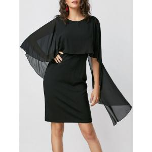 Bodycon Capelet Dress