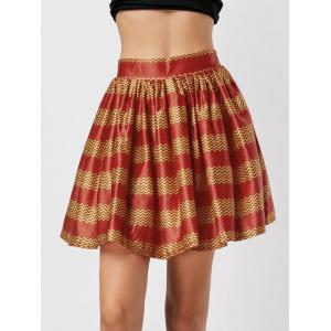 Printed High Waisted Ball Skirt