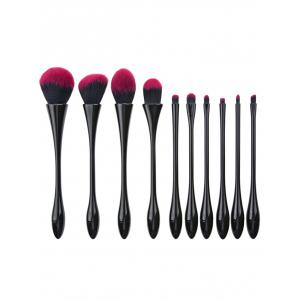 10Pcs Waisted Plated Fibre Hair Makeup Brushes Set