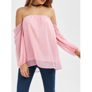 Chiffon Off The Shoulder Top