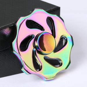Colorful Wheel Shape Fidget Metal Spinner Fiddle Toy - Colormix - 2.3*2.3*2.3cm