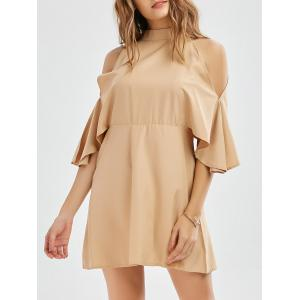 Mini Cold Shoulder Mock Neck Dress