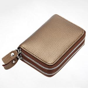 Zip Around Faux Leather Card Bag -