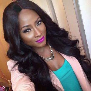 Long Shaggy Thick Body Wave Middle Part Synthetic Wig -