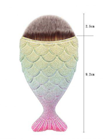 Best Portable Mermaid Facial Makeup Brush - GOLD AND PINK  Mobile