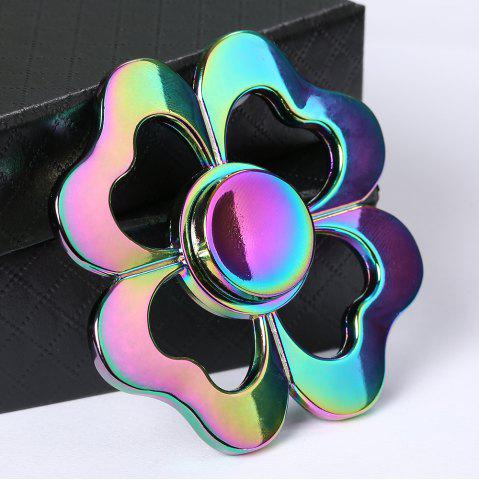Buy Four-leaf Clover Colorful Electroplated Metal Fidget Spinner