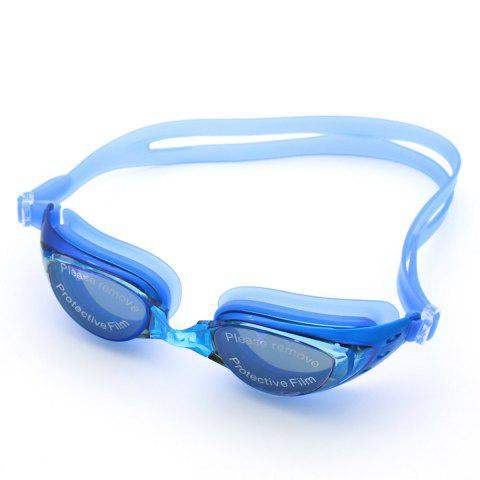 Best Sport Anti Fog Waterproof UV Protection Plain Mirrored Swimming Goggles BLUE