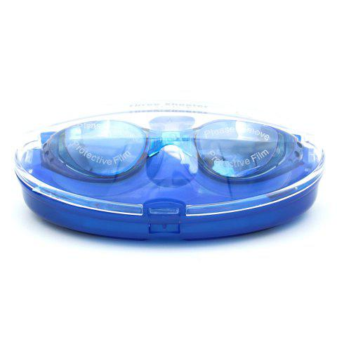 Outfits Sport Anti Fog Waterproof UV Protection Plain Mirrored Swimming Goggles - BLUE  Mobile