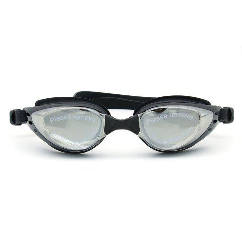 Outfits Sport Anti Fog Waterproof UV Protection Plain Mirrored Swimming Goggles - BLACK  Mobile