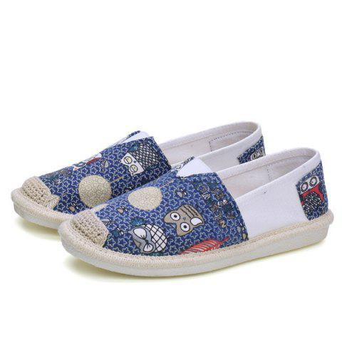 Latest Cartoon Espadrille Slip On Canvas Shoes - 39 ORCHID Mobile