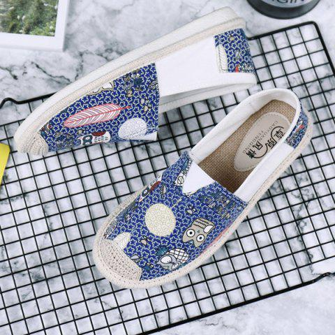Outfit Cartoon Espadrille Slip On Canvas Shoes - 39 ORCHID Mobile